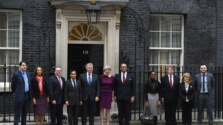 New Tory vice-chairs at 10 Downing Street on January 8, 2018 in London, England.