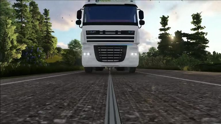 The two year trial will only involve trucks, but the technology can support cars and buses. Credit: eRoadArlanda