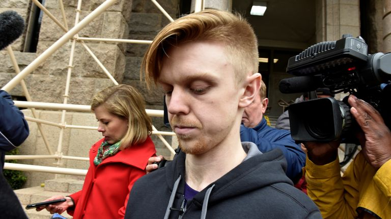 Couch's appearance was surrounded by the media after being released from a jail in Fort Worth