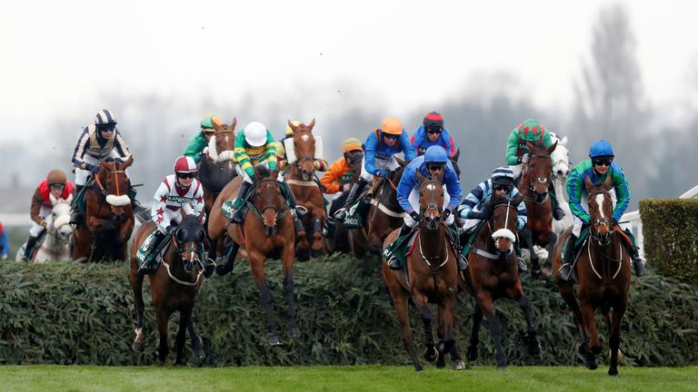 Grand National 2018: General view during the 16:05 Randox Health Foxhunters' Open Hunters' Chase