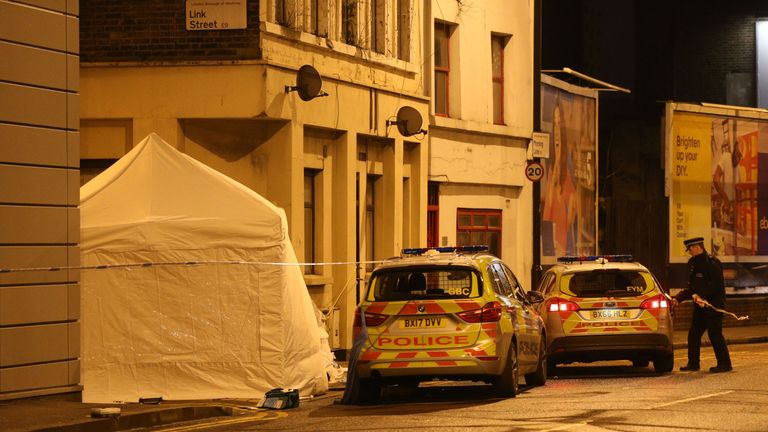 A man in his 20s was found with fatal stab wounds in Link Street in Hackney