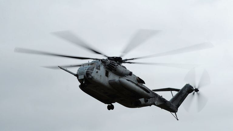 A file picture of a CH-53E Super Stallion helicopter