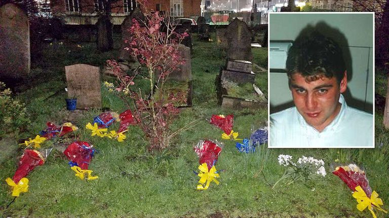 Tributes to suspected burglar Henry Vincent were dumped in a nearby cemetery