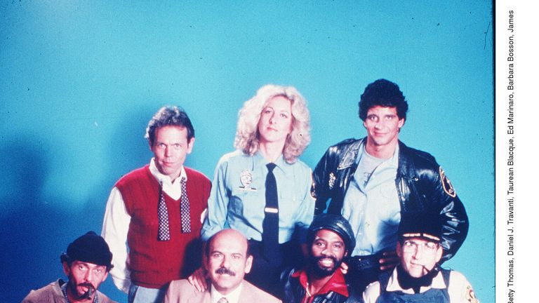 Hill,Street Blues cast in 1981