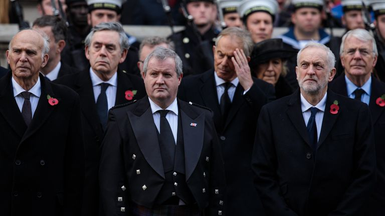 Ian Blackford (C) is calling for Amber Rudd to step down
