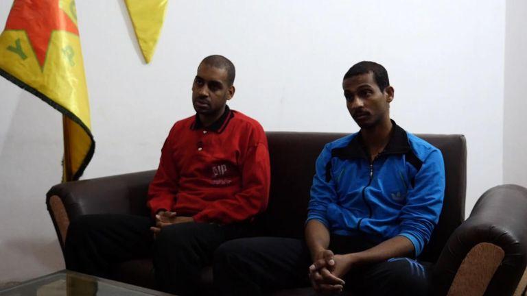 Alexanda Kotey (L) and El Shafee Elsheikh were interviewed in northern Syria