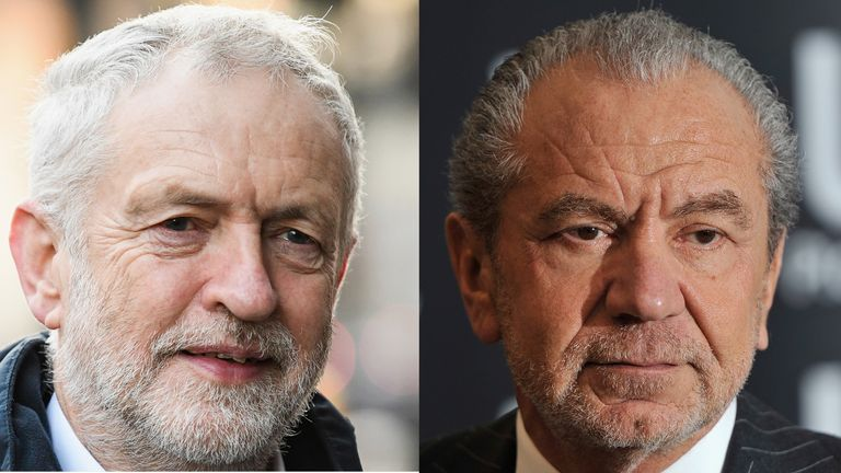 Jeremy Corbyn and Lord Sugar