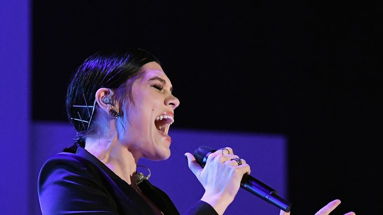 Jessie J performed Whitney Houston's I Will Always Love You in the final. File pic