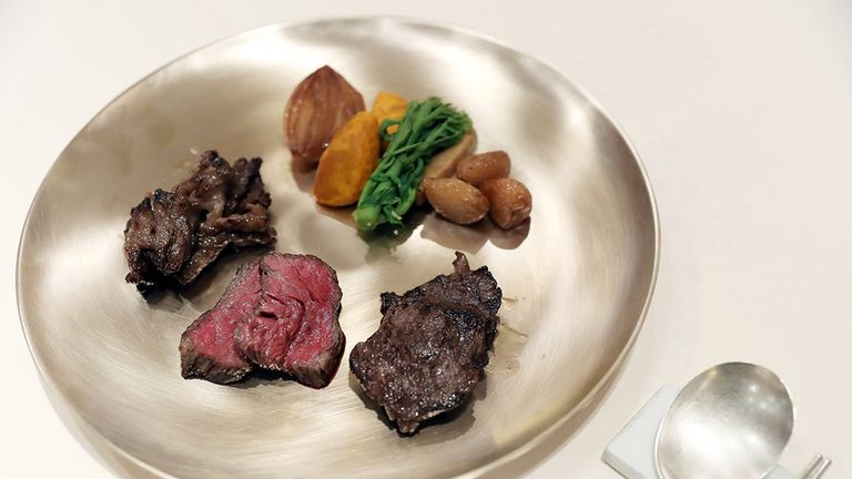 Some of the food to be prepared for the summit between North Korea's Kim Jong Un and South Korea's Moon Jae-in