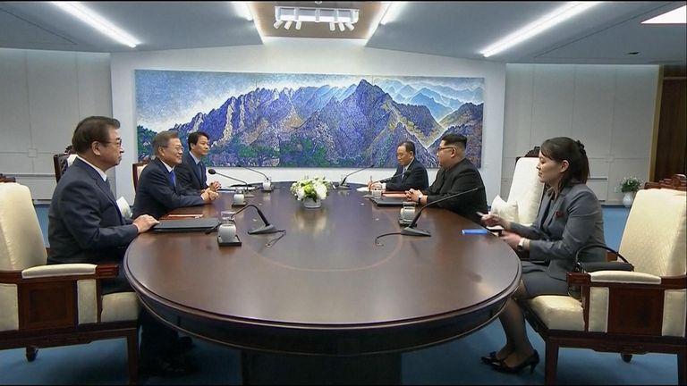 The Korean leaders begin their talks
