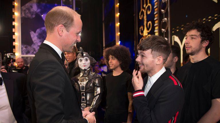 Duke of Cambridge meets Louis Tomlinson  in 2017