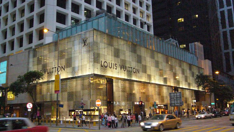 Luis Vuitton is now a global brand - this store is in Hong Kong. Pic: Kent Wang