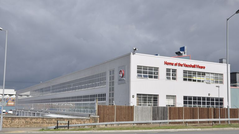 The Vauxhall plant in Luton