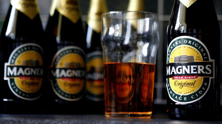 Generic picture of bottles of Magners cider