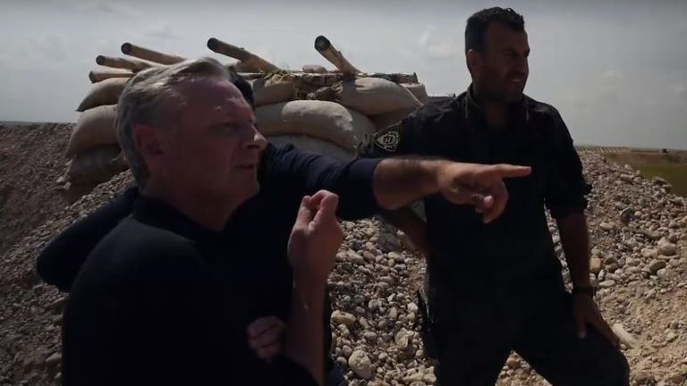 Stuart Ramsay heard how anti-Assad forces are also fighting against jihadis backed by Turkey