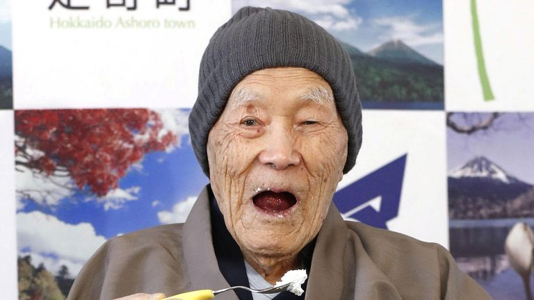 Masazo Nonaka, who was born 112 years and 259 days ago