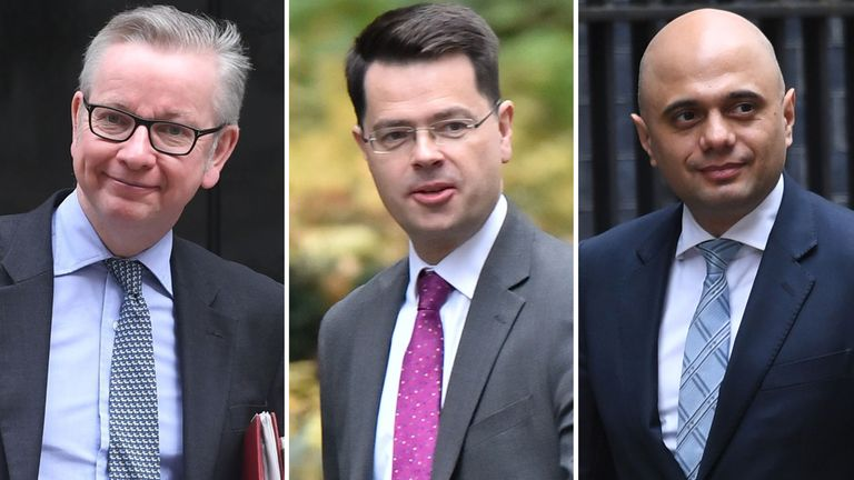 Michael Gove, James Brokenshire and Sajid Javid