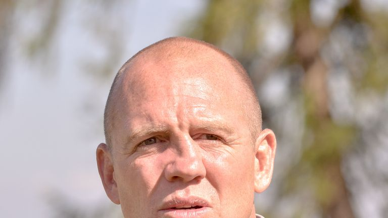 Mike Tindall's old nose pictured in July 2017 at a golf event