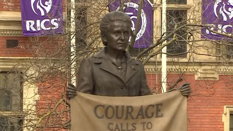 First statue of a woman in Parliament Square unveiled