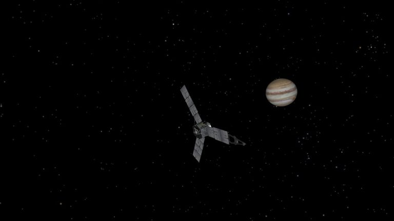 Juno entered Jupiter's orbit on 4 July 2016. Pic: NASA