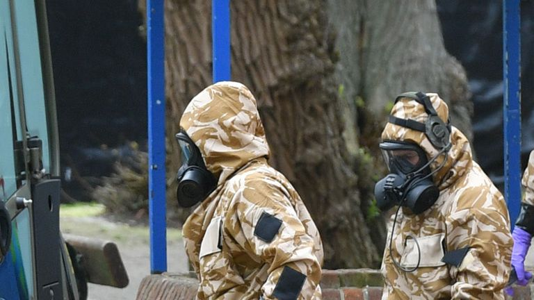 Military personnel at the site near the Maltings in Salisbury