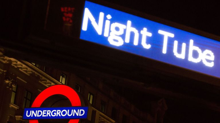 The attack happened on a Night Tube Central line service