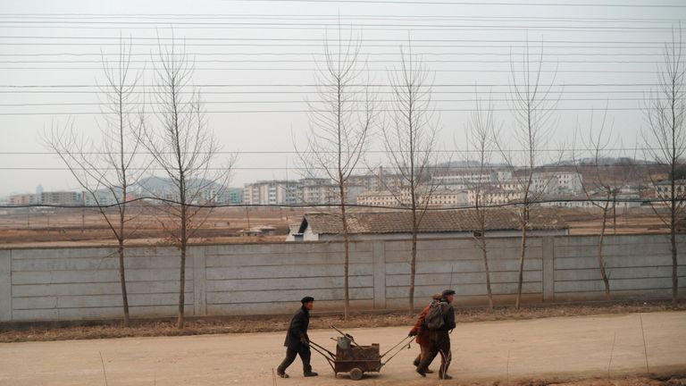 North Koreans were struggling in 2012, when a long-range rocket was seen on a launch platform, but the North said it was a peaceful satellite