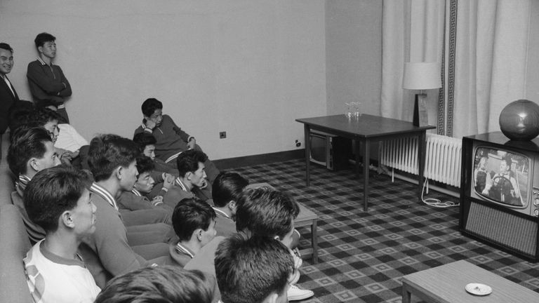 The North Korean 1966 World Cup team watch Laurel and Hardy in Middlesbrough before they play the Soviet Union