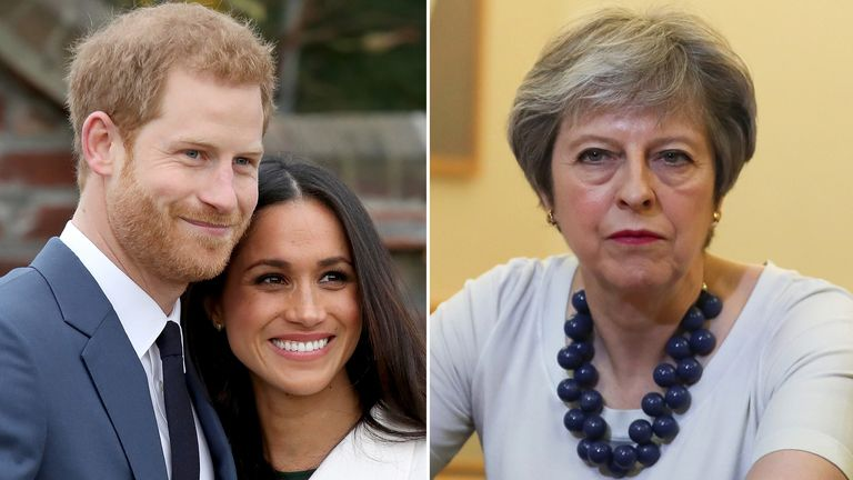 Prince Harry, Meghan Markle and Theresa May