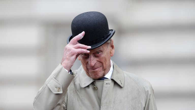 Prince Philip underwent a hip replacement operation. File pic