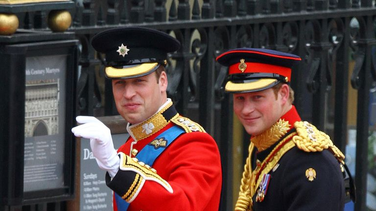 Prince William and Prince Harry in 2011