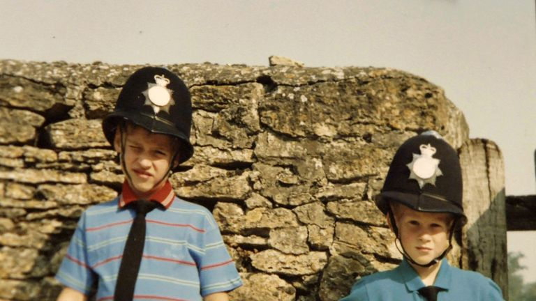 Princes William and Harry, from the personal photo album of the late Diana, Princess of Wales