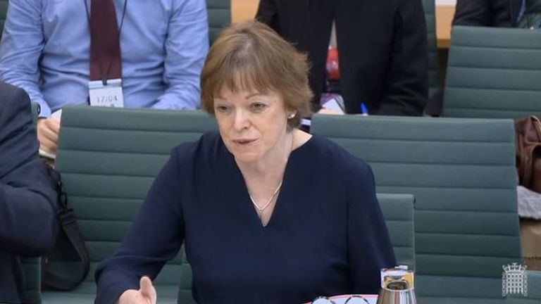 Dame Glenys Stacey said her husband would be doing more cooking. Pic: Parliament Live
