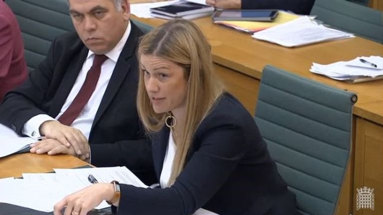 Labour MP Ellie Reeves said Dame Glenys was sending the 'wrong message'. Pic: Parliament Live