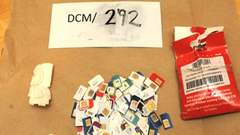 Police recovered 360 SIM cards during a raid last year