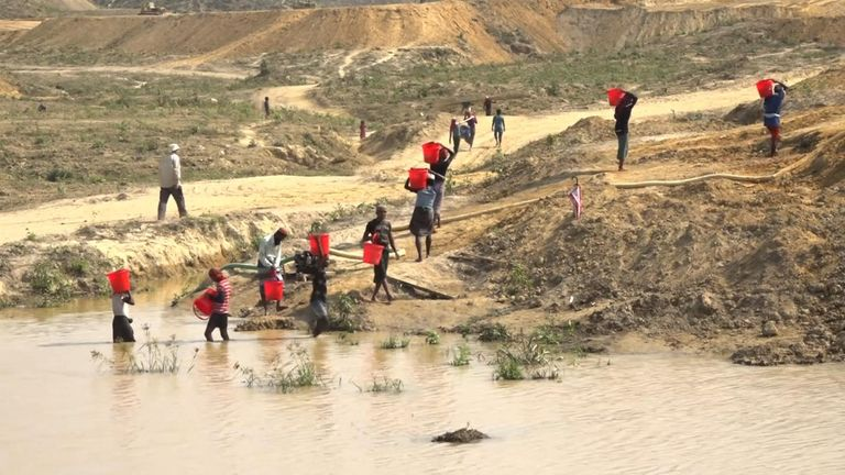 The island chosen for development regularly floods