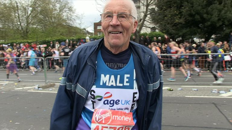 John Starbrook at 87 is the oldest runner taking part in the London Marathon on Sunday