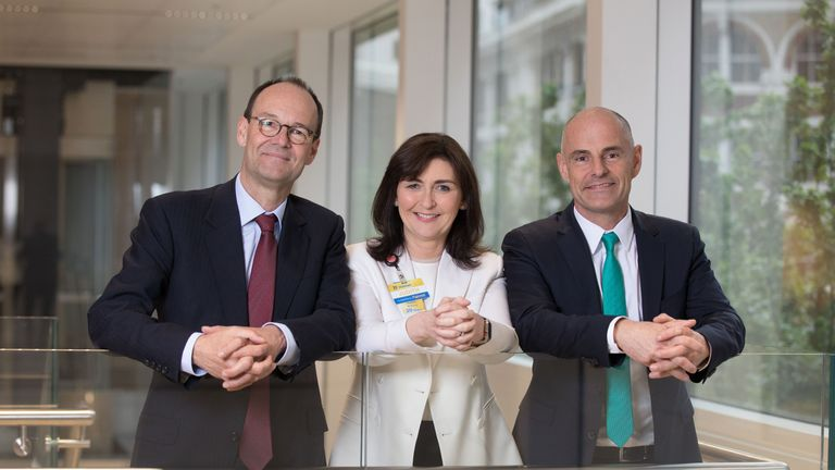 Mike Coupe (CEO, Sainsbury's), Judith McKenna (President and CEO of Walmart International) and Roger Burnley (President and CEO of Asda )