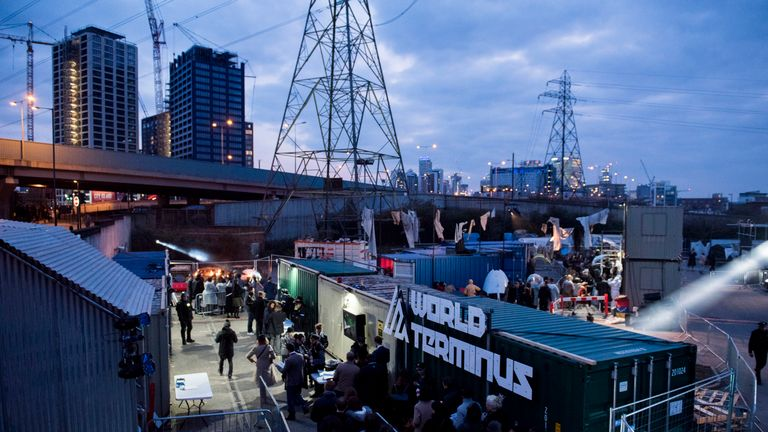 The World Terminus overlooking east London. Pic: Camilla Greenwell, courtesy of Secret Cinema