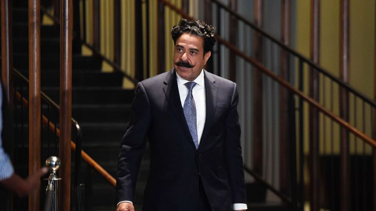 Jacksonville Jaguars owner Shahid Khan at the Conrad Hotel after the NFL owners meeting