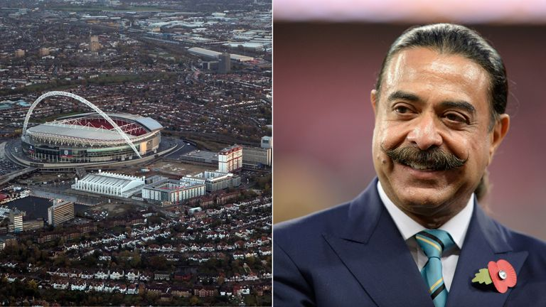 Shahid Khan has made a bid for Wembley Stadium
