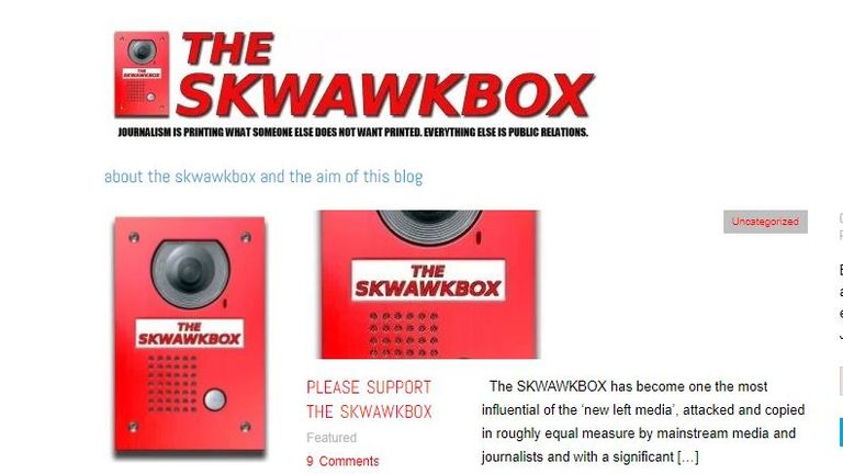 The Skwawkbox says it is from the 'new left media'