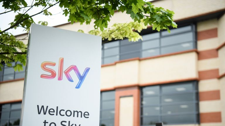 A general view of the SKY headquarters in Isleworth on May 9, 2017 in London, England