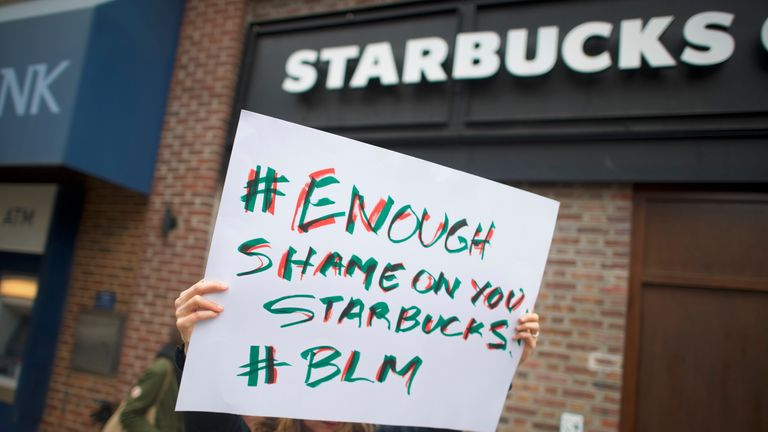 Starbucks has been embroiled in a race row