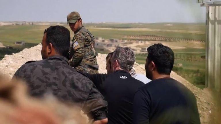 The Social Democratic Forces have outposts across Manbij