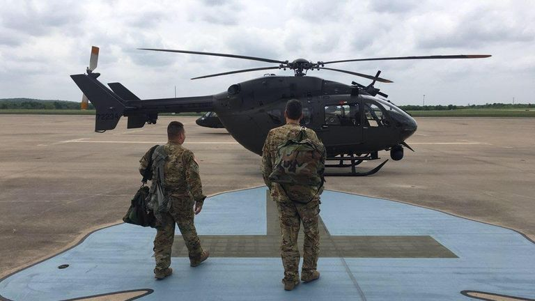 Texas National Guard members are being deployed to the US-Mexico border. Pic: @TXMilitary