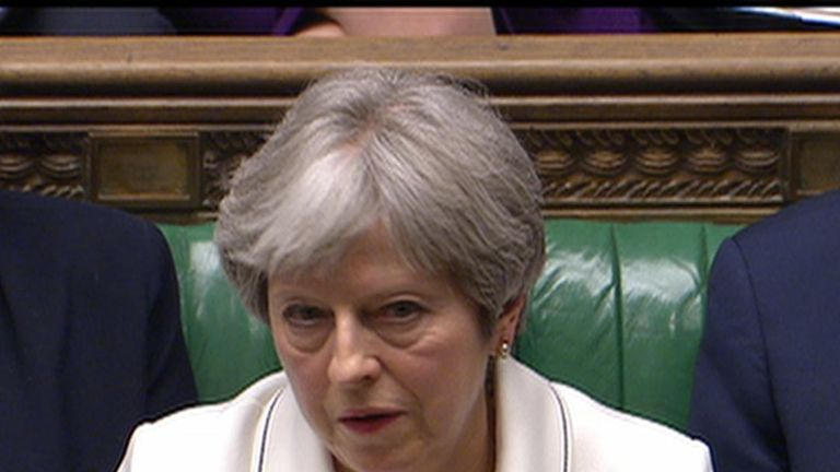 Theresa May is not amused by Jeremy Corbyn's comment