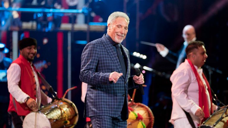 Sir Tom Jones sings for The Queen at the Royal Albert Hall