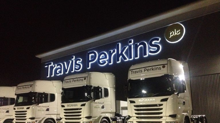 Travis Perkins brands include the Wickes DIY chain and Primaflow plumbing. Pic: Travis Perkins