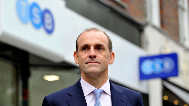 File photo dated 09/09/13 of TSB chief executive Paul Pester who has apologised after IT problems left online customers unable to access their money and some able to see other people's accounts.